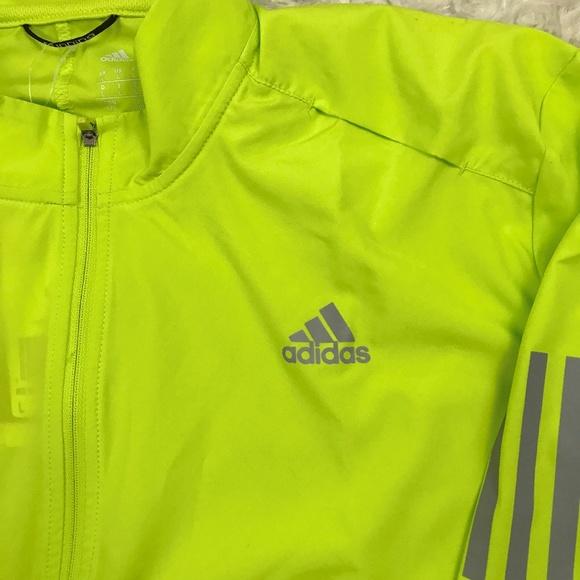 Adidas Men's Running Jacket Neon Yellow Large NWT